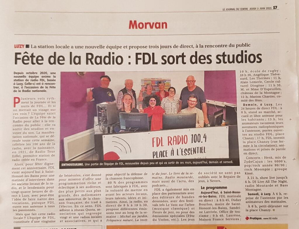 Article FDL dans le JDC